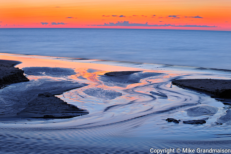 Gulf of St. Lawrence at dusk<br /> Cable Head<br /> Prince Edward Island<br /> Canada