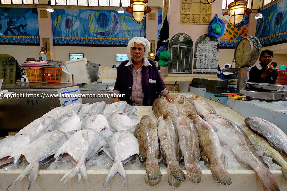 Interior of Fish market in Kuwait City, Kuwait    iain masterton