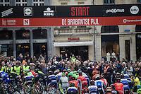 Start of the 56th De Brabantse Pijl - La Flèche Brabançonne (1.HC) in the streets of Leuven
