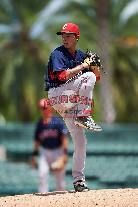 GCL Red Sox relief pitcher Ryan Oduber (60) during a game against the GCL Orioles on August 16, 2016 at the Ed Smith Stadium in Sarasota, Florida.  GCL Red Sox defeated GCL Orioles 2-0.  (Mike Janes/Four Seam Images)