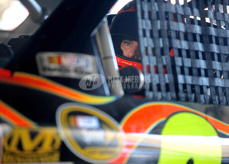Nov. 21, 2009; Homestead, FL, USA; NASCAR Sprint Cup Series driver Jeff Gordon during practice for the Ford 400 at Homestead Miami Speedway. Mandatory Credit: Mark J. Rebilas-
