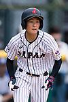 #52 Yoshii Harue of Japan runs after bating during the BFA Women's Baseball Asian Cup match between Japan and Hong Kong at Sai Tso Wan Recreation Ground on September 5, 2017 in Hong Kong. Photo by Marcio Rodrigo Machado / Power Sport Images