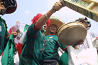 Mexican National Team supporters gather together before their 2nd round match against the USA at