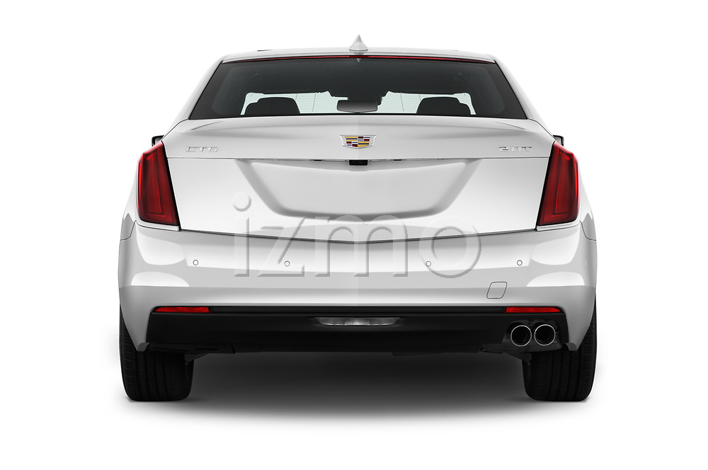 Straight rear view of 2017 Cadillac CT6 RWD 4 Door Sedan Rear View  stock images