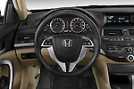 Steering wheel view of a 2008 Honda Accord Coupe