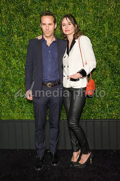 18 April 2016 - New York, New York- Alessandro Nivola, Emily Mortimer. Chanel Artists Dinner at Tribeca Film Festival. Photo Credit: Mario Santoro/AdMedia