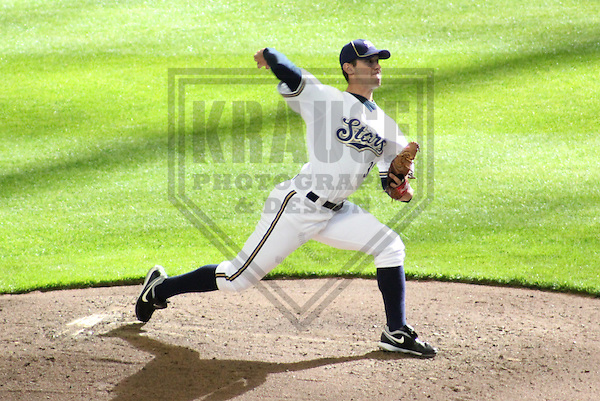 MILWAUKEE - APRIL 2011: Austin Ross (38) of the Milwaukee Brewers during the team's Rising Stars game on Saturday April 3, 2011 at Miller Park in Milwaukee, Wisconsin. (Photo by Brad Krause) ..