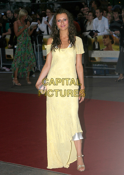 GUEST.Pride & Prejudice - UK film premiere, Odeon Leicester Square, London..September 5th, 2005.full length yellow dress sheer.www.capitalpictures.com.sales@capitalpictures.com.© Capital Pictures.
