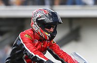 Mar 13, 2015; Gainesville, FL, USA; NHRA pro stock motorcycle rider Matt Smith during qualifying for the Gatornationals at Auto Plus Raceway at Gainesville. Mandatory Credit: Mark J. Rebilas-