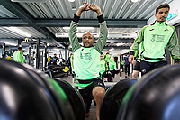 Andre Ayew of Swansea City in the gym during the Swansea City Training Session at The Fairwood Training Ground in Swansea, Wales, UK. Wednesday 16 October 2019