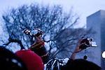 Spectators raise their video cameras in an attempt to capture the inauguration of Barack Obama as the 44th president of the United States of America, Tuesday, Jan. 20, 2009, in Washington, D.C. (Heather Halstead/pressphotointl.com)