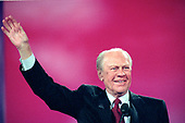 Former United States President Gerald R. Ford speaks at the 1996 Republican National Convention at the San Diego Convention Center in San Diego, California on August 12, 1996.  <br /> Credit: Ron Sachs / CNP
