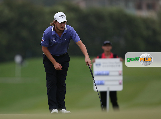 Emiliano Grillo (ARG) dropped three shots on the back nine for a 71 (-4) during Round Three of the 2014 Volvo China Open, Genzon Golf Club, Shenzhen, China. Picture:  David Lloyd / www.golffile.ie