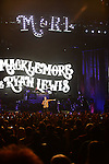 MIAMI, FL - NOVEMBER 24: Macklemore and Ryan Lewis perform at AmericanAirlines Arena on November 24, 2013 in Miami, Florida.  (Photo by Johnny Louis/jlnphotography.com)
