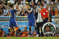 Enzo Perez of Argentina is replaced by Fernando Gago