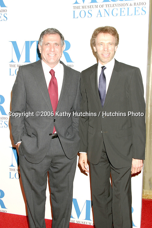 Les Moonves & Jerry Bruckheimer.Museum of TV & Radio Annual Gala IHO Les Moonves and Jerry Bruckheimer.Regent Beverly Wilshire Hotel.Beverly Hills, CA.October 30, 2006.©2006 Kathy Hutchins / Hutchins Photo....