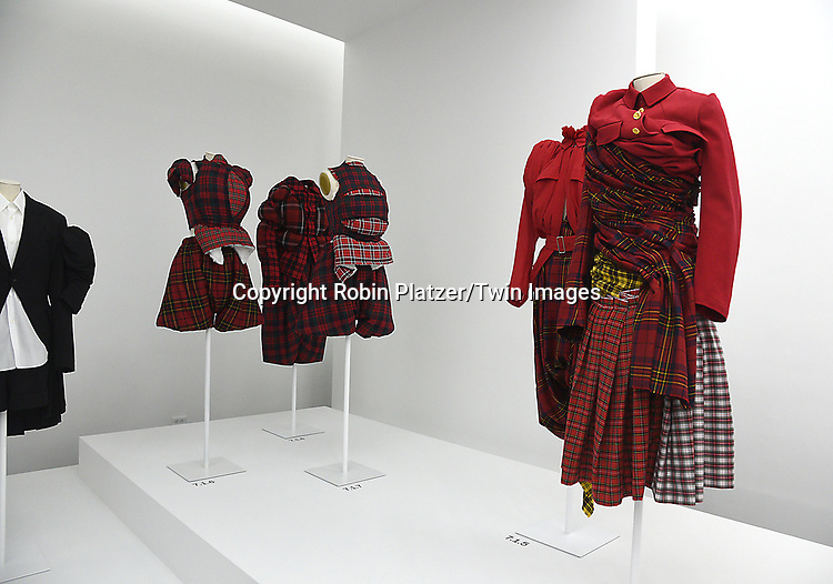 The Clothingat the Press Preview of Rei Kawakubo/Comme des Garcons: Art of the In-Between exhibit at The Costume Institute at the Metropolitan Museum of Art on May 1, 2017 in New York, New York, USA. <br /> <br /> photo by Robin Platzer/Twin Images<br />  <br /> phone number 212-935-0770
