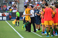 Carson, CA - Thursday August 03, 2017: Lisa De Vanna during a 2017 Tournament of Nations match between the women's national teams of Australia (AUS) and Brazil (BRA) at the StubHub Center.