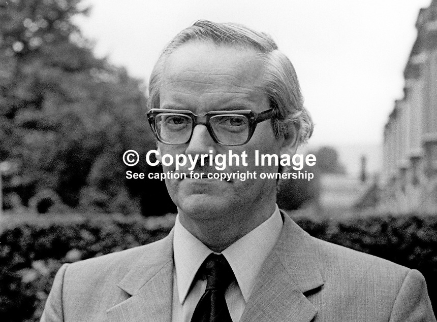 Gerry Quigley, general secretary, INTO, Irish National Teachers Organization, N Ireland, July, 1973, 197307260521GQ<br />