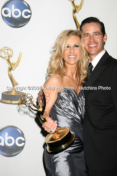Cristina Perez & her husband in the Press Rom after her show won an Emmy  for Outstnading Legal Show at the Daytime Emmys 2008 at the Kodak Theater in Hollywood, CA on.June 20, 2008.©2008 Kathy Hutchins / Hutchins Photo .