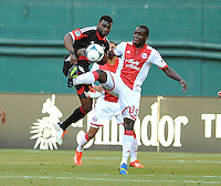 Brandon McDonal (4) of D.C. United goes against Andrew Jean-Baptiste (35) of the Portland Timbers. The Portland Timbers defeated D.C. United 2-0, at RFK Stadium, Saturday May 25 , 2013.