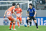 Gamba Osaka Midfielder Kurata Shu (R) in action during the AFC Champions League 2017 Group H match Between Jeju United FC (KOR) vs Gamba Osaka (JPN) at the Jeju World Cup Stadium on 09 May 2017 in Jeju, South Korea. Photo by Marcio Rodrigo Machado / Power Sport Images