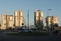 - Milan, residential buildings in the Lorenteggio district....- Milano, palazzi residenziali nel quartiere Lorenteggio....