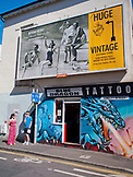 ENGLAND, Brighton, Blue Dragon Tatoo Parlor