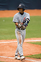 19 August 2007: Center Field #9 Ryuichi Kajimae walks during the Japan 4-3 victory over France in the Good Luck Beijing International baseball tournament (olympic test event) at the Wukesong Baseball Field in Beijing, China.