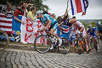 Greg Van Avermaet (BEL/BMC) up Libby Hill<br /> <br /> Elite Men Road Race<br /> UCI Road World Championships Richmond 2015 / USA