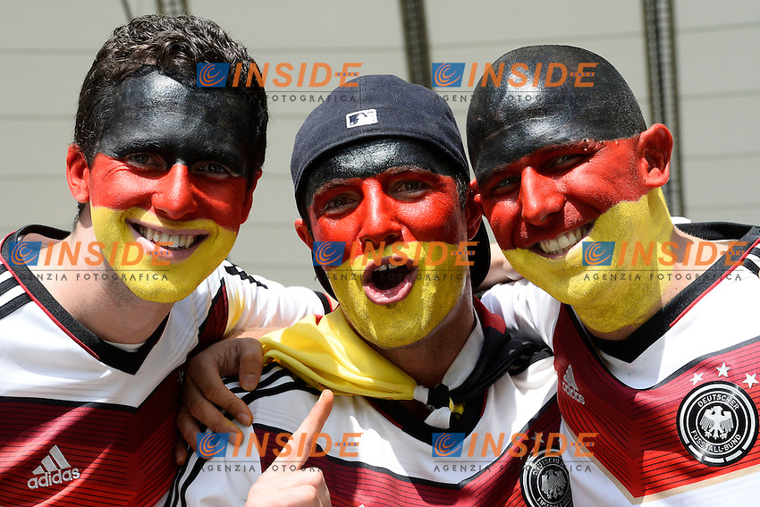 Tifosi Germania - Germany fans<br /> Rio de Janeiro (Brasile) 04-07-2014 Maracana Quarter-Finals / Quarti di finale France - Germany / Francia - Germania. Football 2014 Fifa World Cup Brazil - Campionato del Mondo di Calcio  Brasile 2014 <br /> Foto Insidefoto
