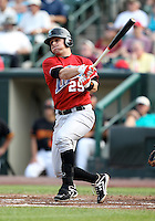 Norfolk Tides first baseman Brandon Snyder (29) during a game vs. the Rochester Red Wings at Frontier Field in Rochester, New York;  May 31, 2010.  Norfolk defeated Rochester by the score of 2-1.  Photo By Mike Janes/Four Seam Images