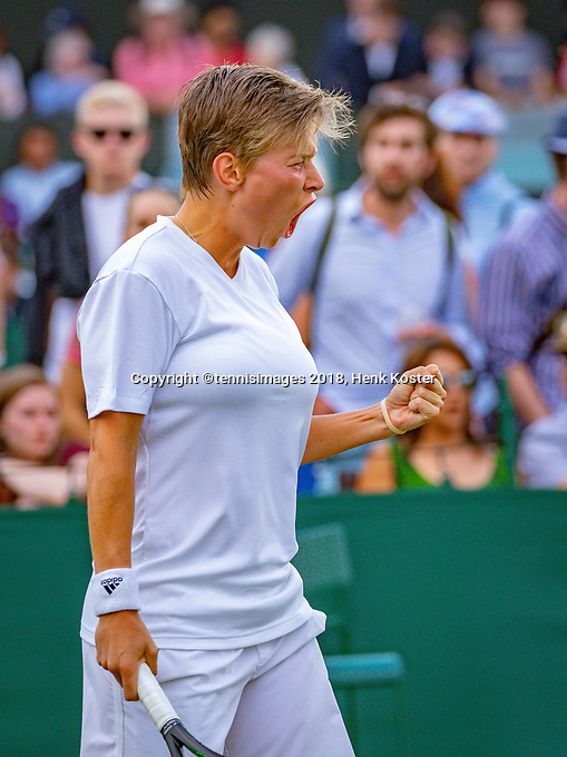 London, England, 5 th. July, 2018, Tennis,  Wimbledon, Women's doubles: Demi Schuurs (NED) <br /> Photo: Henk Koster/tennisimages.com