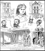 BNPS.co.uk (01202) 558833<br /> Picture: AmberleyPublishing/BNPS<br /> <br /> ****Please use full byline****<br /> <br /> Sketches of the Whitechapel tragedy.<br /> <br /> Even Kirsty and Phil would struggle to sell these houses...<br /> <br /> These London properties may appear to be nothing out of the ordinary, but their grisly past as blood-soaked crime scenes has now been revealed.<br /> <br /> In the late 19th and early 20th century the buildings were home to brutal murders carried out by jilted lovers, the clinically insane, and organised gangs.<br /> <br /> Despite their morbid history all of the houses still stand today - and are being lived in or are now takeaways, cafes, and restaurants.<br /> <br /> Dr Jan Bodenson has spent the last decade researching the horrendous histories of the buildings and has now unveiled his findings in a new book.