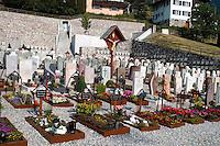 Liechtenstein  Triesenberg  June 2008.The Cemetery