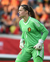 20170613 - LEUVEN ,  BELGIUM : Belgian Diede Lemey  pictured during the female soccer game between the Belgian Red Flames and Japan , a friendly game before the European Championship in The Netherlands 2017  , Tuesday 13 th Juin 2017 at Stadion Den Dreef  in Leuven , Belgium. PHOTO SPORTPIX.BE | DIRK VUYLSTEKE