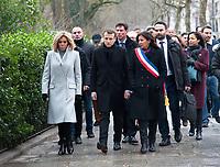 January 7 2018, PARIS FRANCE<br /> Commemorative Ceremony of the 7 january<br /> 2015 terrorist attacks against Charlie Hebdo newspaperin Paris. the President Macron, his wife Brigitte, Anne Hidalgo Mayor of Paris are present. # CEREMONIES D'HOMMAGE AUX VICTIMES DES ATTENTATS DE CHARLIE HEBDO ET DE L'HYPER CACHER