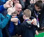 13.05.2018 Hibs v Rangers: Jordan Rossiter hands his shirt to a Rangers fan after the match
