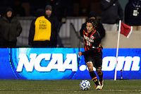 Maryland Terrapins midfielder Tsubasa Endoh (31). The Notre Dame Fighting Irish defeated the Maryland Terrapins 2-1 during the championship match of the division 1 2013 NCAA  Men's Soccer College Cup at PPL Park in Chester, PA, on December 15, 2013.