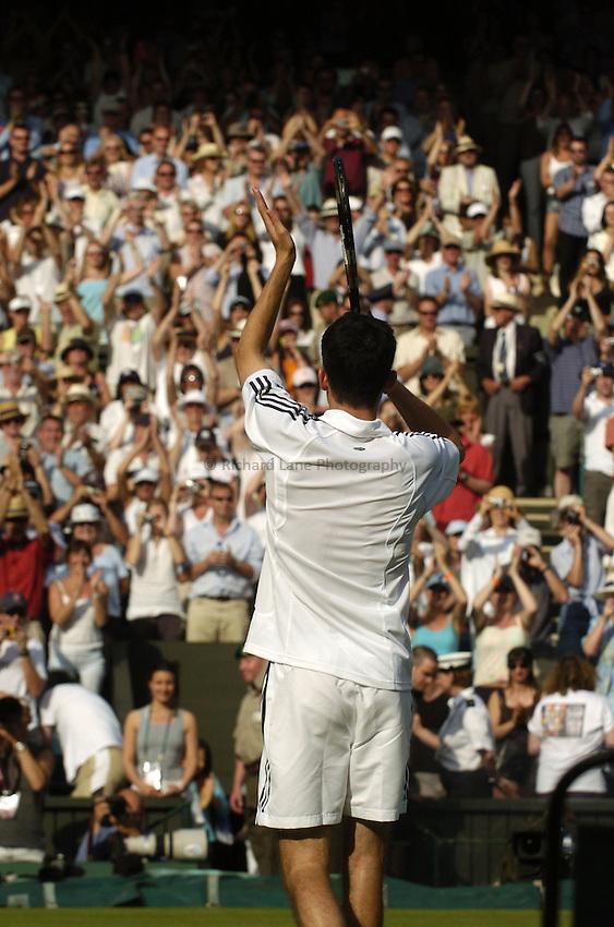 Photo. Jed Wee..Wimbledon Championships. 21/06/2005..Tim Henman.
