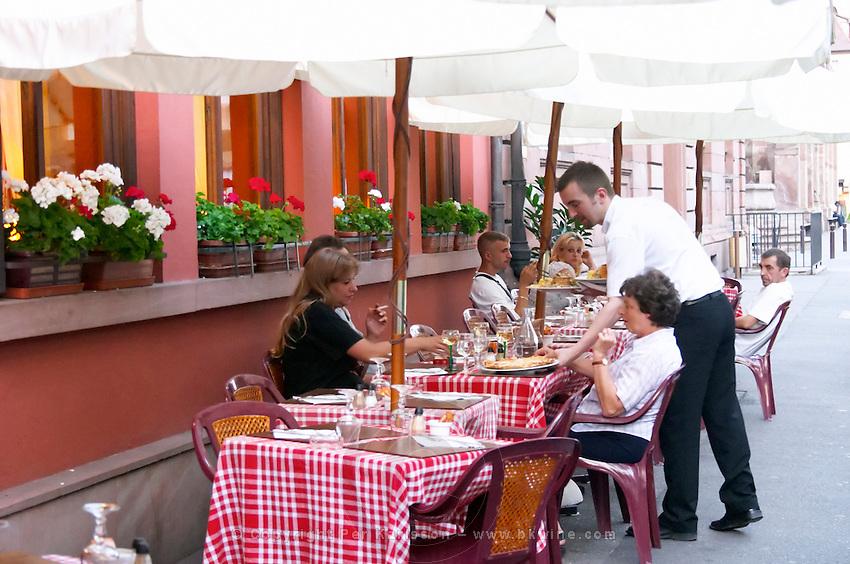 restaurant terrace colmar alsace france