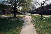 1991 April ..Assisted Housing.Diggs Town (6-6)..USDA Study.Details of way court yards are set up presently...NEG#.NRHA#..HOUSING: DiggsTn1 1:10
