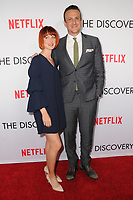 "29 March 2017 - Los Angeles, California - Alexis Mixter, Jason Segel.  Premiere Of Netflix's ""The Discovery"" held at The Vista Theater in Los Angeles. Photo Credit: Birdie Thompson/AdMedia"
