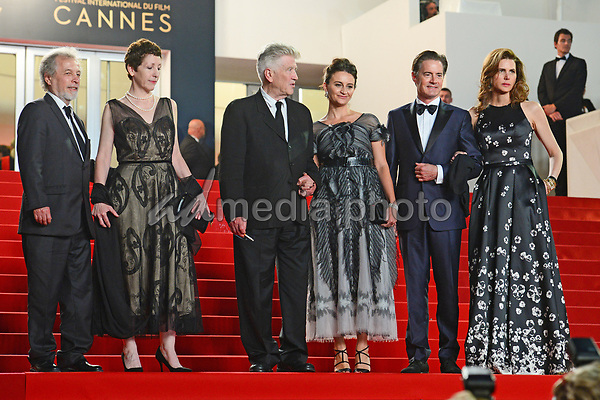 "25 May 2017 - Cannes, France - Guest, Sabrina Sutherland, Emily Stofle, David Lynch, Kyle MacLa. ""Twin Peaks"" Premiere - The 70th Annual Cannes Film Festival. Photo Credit: Jan Sauerwein/face to face/AdMedia"