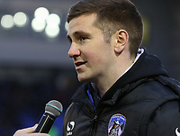 Oldham Athletic announced their new signing Patrick McEleney to the fans during the Sky Bet League 1 match between Oldham Athletic and Bristol Rovers at Boundary Park, Oldham, England on 30 December 2017. Photo by Juel Miah / PRiME Media Images.