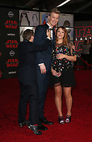 LOS ANGELES, CA - DECEMBER 9: Milla Pohjasvaara, Joonas Suotamo, Rian Johnson, at Premiere Of Disney Pictures And Lucasfilm's 'Star Wars: The Last Jedi' at Shrine Auditorium in Los Angeles, California on December 9, 2017. Credit: Faye Sadou/MediaPunch /NortePhoto.com NORTEPHOTOMEXICO