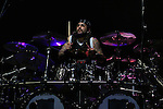 Mike Portnoy, drummer for the Dream Theater Band seen on stage during a performance in Tel Aviv, June 16 2009. Photo By : Tess Scheflan / JINI