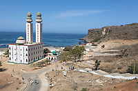 Dakar, Senegal.  Mosque de la Divinité (Mosque of the Divinity), in Ouakam, a commune of Dakar.  Completed 1997.