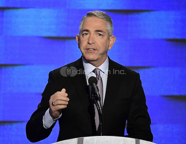 Doug Elmets, former Reagan Administration official,  makes remarks during the fourth session of the 2016 Democratic National Convention at the Wells Fargo Center in Philadelphia, Pennsylvania on Thursday, July 28, 2016.<br /> Credit: Ron Sachs / CNP/MediaPunch<br /> (RESTRICTION: NO New York or New Jersey Newspapers or newspapers within a 75 mile radius of New York City)