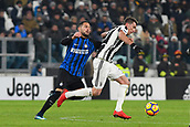 9th December 2017, Allianz Stadium, Turin, Italy; Serie A football, Juventus versus Inter Milan; Danilo D'Ambrosio challenges Mario Mandzukic